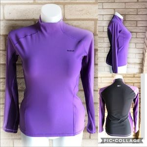 Reebok Play Dry Purple/Black Compression Top